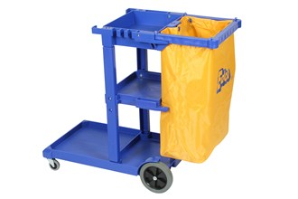 JANITOR CART - HOSPITALITY TROLLEY - BLUE