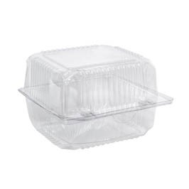 SNACK BOX - CLEAR - HINGED LID - SMALL