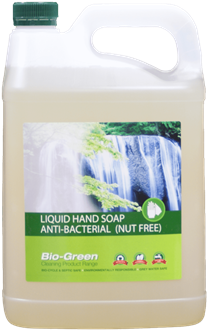 BIO GREEN LIQUID SOAP - ANTIBACTERIAL & NUT FREE - 5L