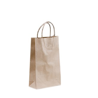 CARRY BAG - BROWN - BABY - 265X160X70 - TWISTED HANDLE