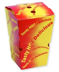 CHIP BOX - 'TASTY HOT DELICIOUS' PRINT - LARGE